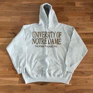 Vintage 90's University of Notre Dame Men's Hoodie
